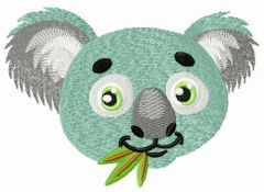 Koala muzzle embroidery design