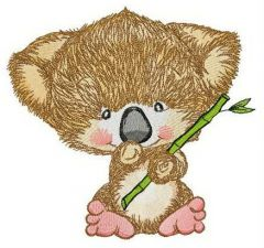 Koala with bamboo embroidery design