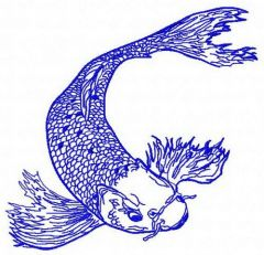 Koi 3 embroidery design