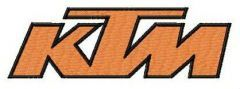 KTM alternative logo embroidery design