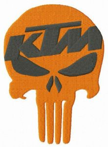 KTM Punisher embroidery design