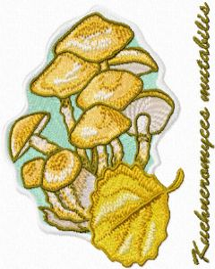 Kuehneromyces mutabilis embroidery design