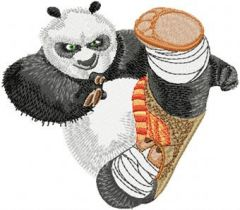 Panda Attack embroidery design
