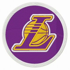Los Angeles Lakers alternative round logo embroidery design