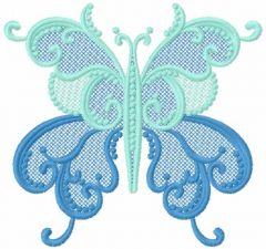Butterfly lace embroidery design