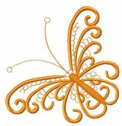 Orange lace butterfly 2 embroidery design
