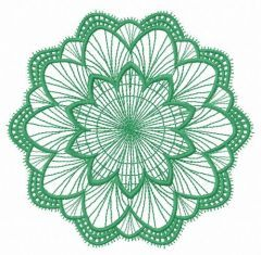 Lace doily embroidery design 15