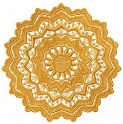 Lace doily embroidery design