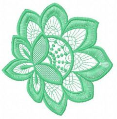 Lace flower embroidery design 10