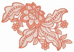 Lace flower embroidery design 11