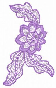 Lace flower embroidery design 12