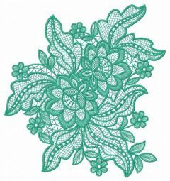 Lace flower embroidery design 7