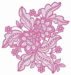 Lace flower embroidery design 8