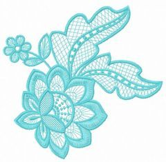 Lace flower embroidery design 16