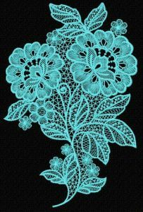 Lace flower embroidery design