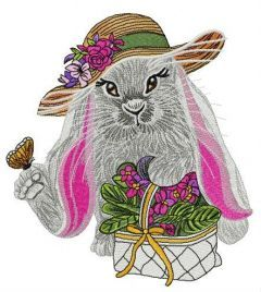 Lady bunny 2 embroidery design