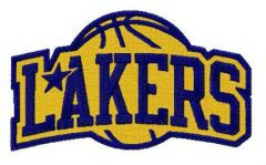 Lakers logo embroidery design