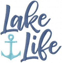 Lake life free embroidery design