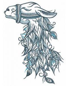 Lama embroidery design