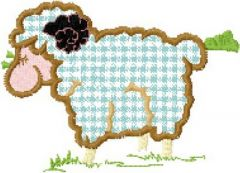 Lamb Applique 2 embroidery design