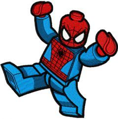 LEGO Spiderman embroidery design