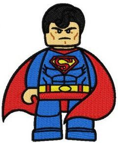 Lego Superman embroidery design