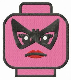 LEGO woman head embroidery design