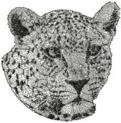 Leopard 2 embroidery design