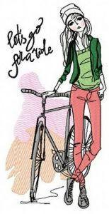 Let's go for ride 2 embroidery design
