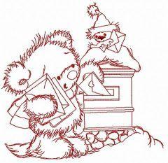 Letter for Santa 3 embroidery design