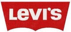 Levi's logo embroidery design