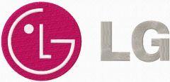 LG Electronics logo embroidery design