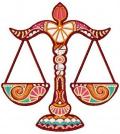Zodiac Sign Libra embroidery design
