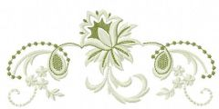 Light green flowers embroidery design