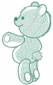 Light green teddy embroidery design