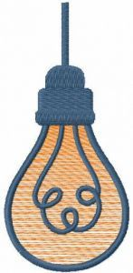 Lightbulb free embroidery design