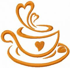 Like coffee embroidery design