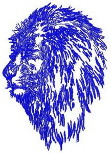 Lion 2 embroidery design
