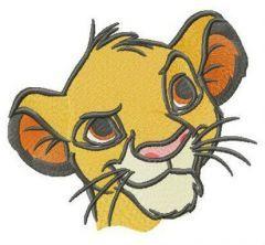 Lion cub Simba embroidery design