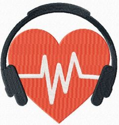 Listen to your heart embroidery design