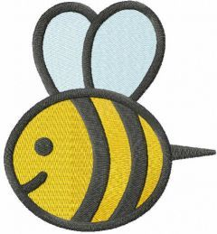 Little bee free embroidery design