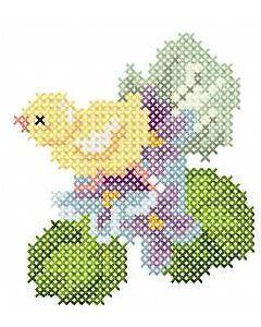 Little cute chicken embroidery design