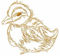 Cute little duck embroidery design