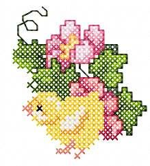 Cute Easter chicken embroidery design