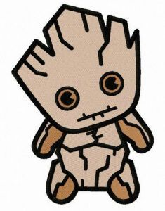 Little Groot embroidery design 2