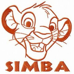Little Simba Lion King embroidery design