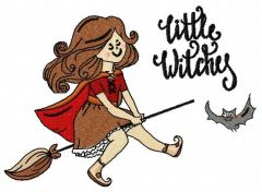 Little witches 6 embroidery design