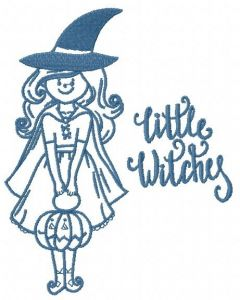 Little witches 2 embroidery design