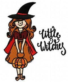 Little witches embroidery design