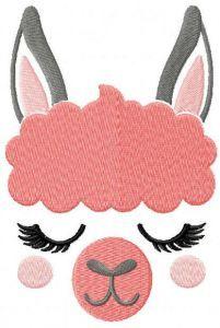 Llama free embroidery design 2